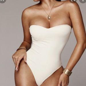 JLUXLABEL White Monroe Shapewear Bustier Bodysuit